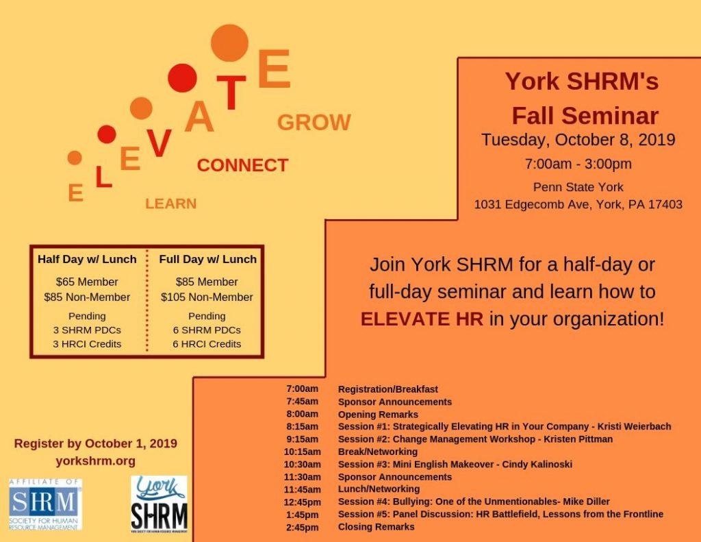 2019 Fall Seminar @ Penn State York