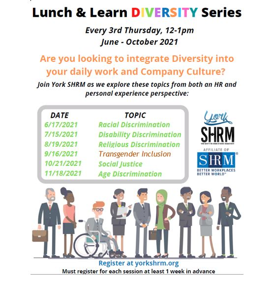 Lunch & Learn Diversity Series - Social Justice @ Via Zoom